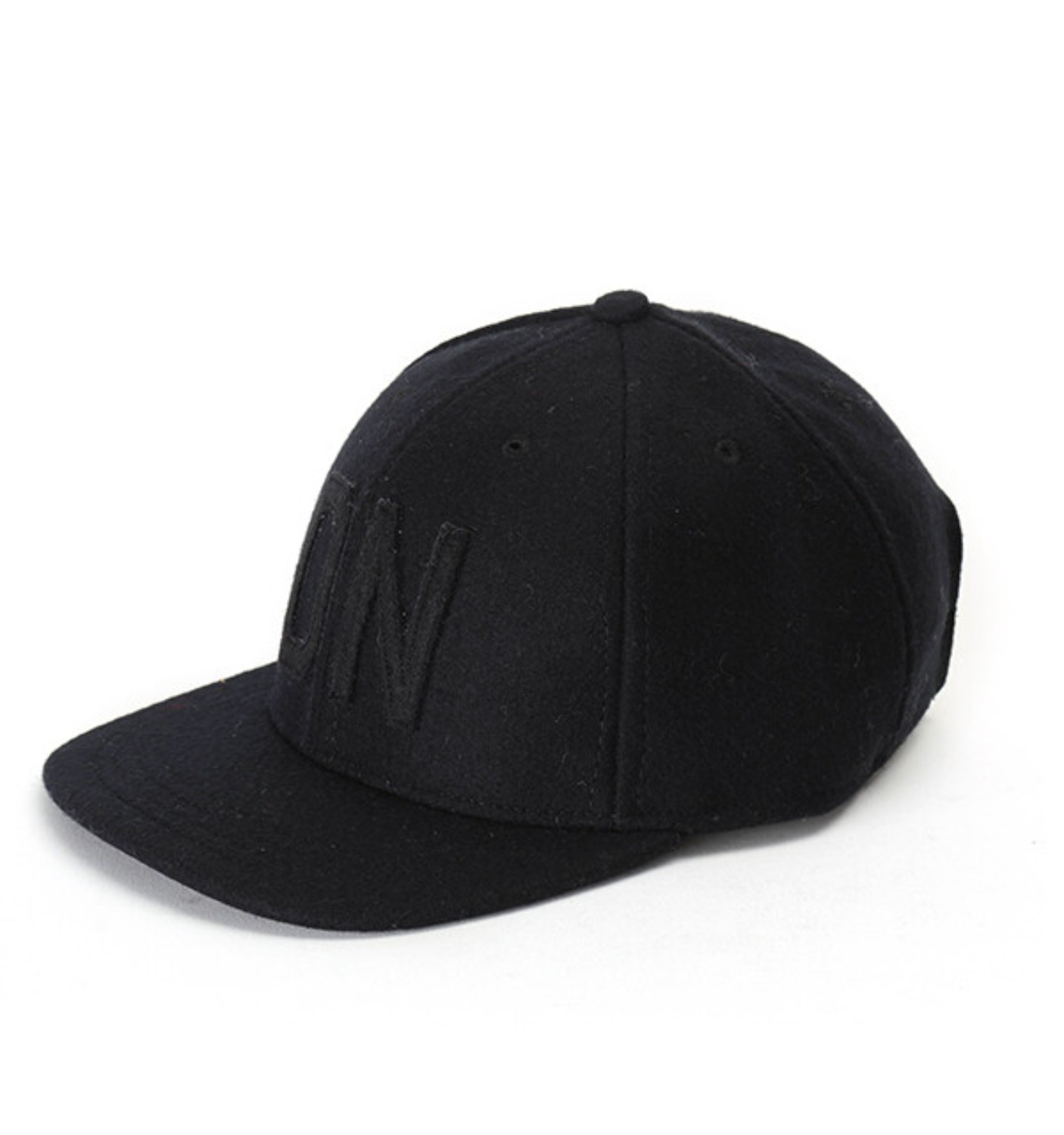 "Melton Wool Cap Embroidery ""DN"""