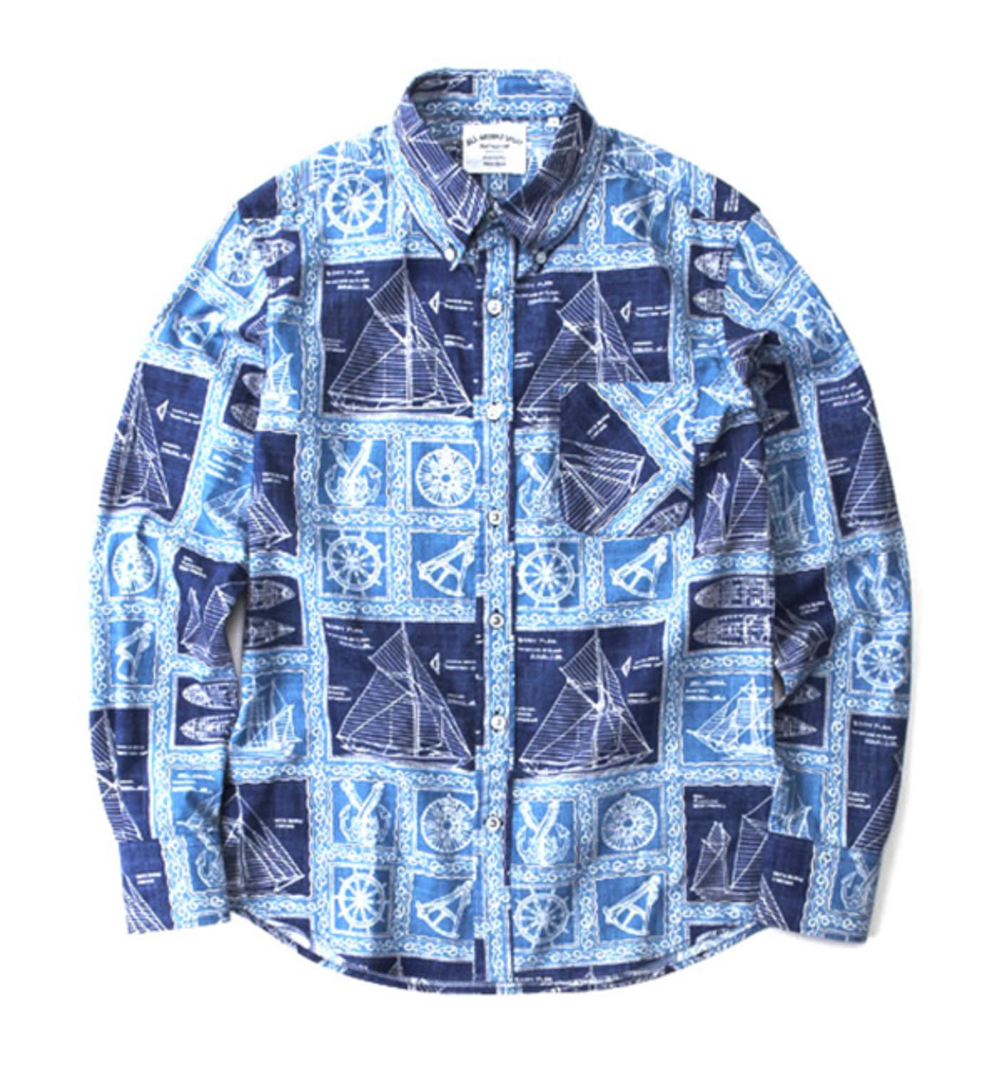 SS01 NAVY SHIP SHIRT