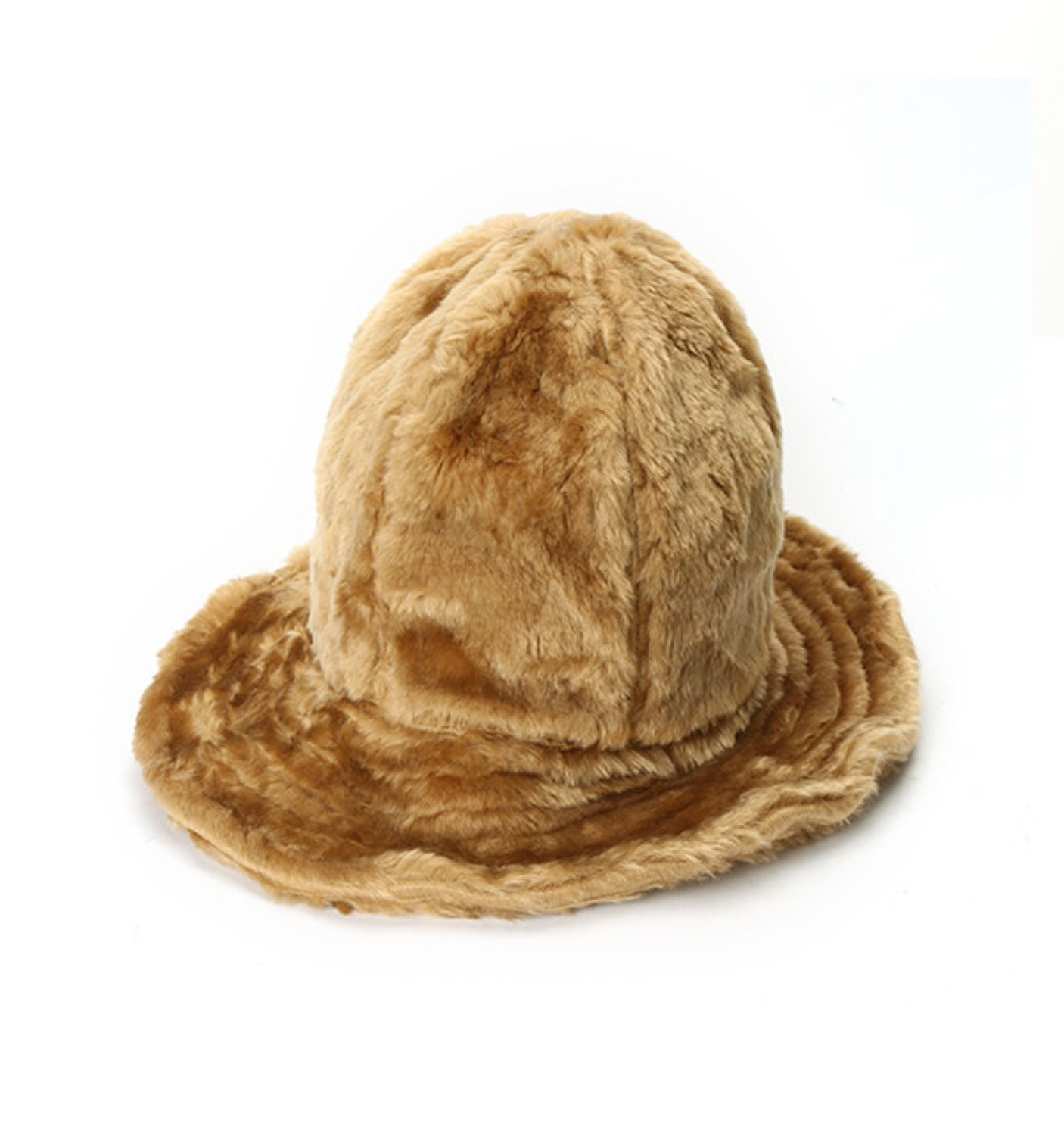 DOME HAT BROWN FUR