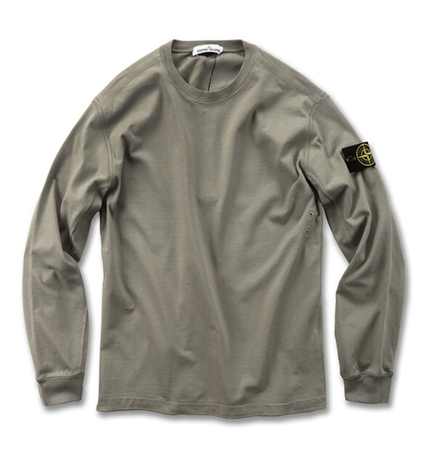 GARMENT DYED CREWNECK SWEATSHIRT LIGHT OLIVE