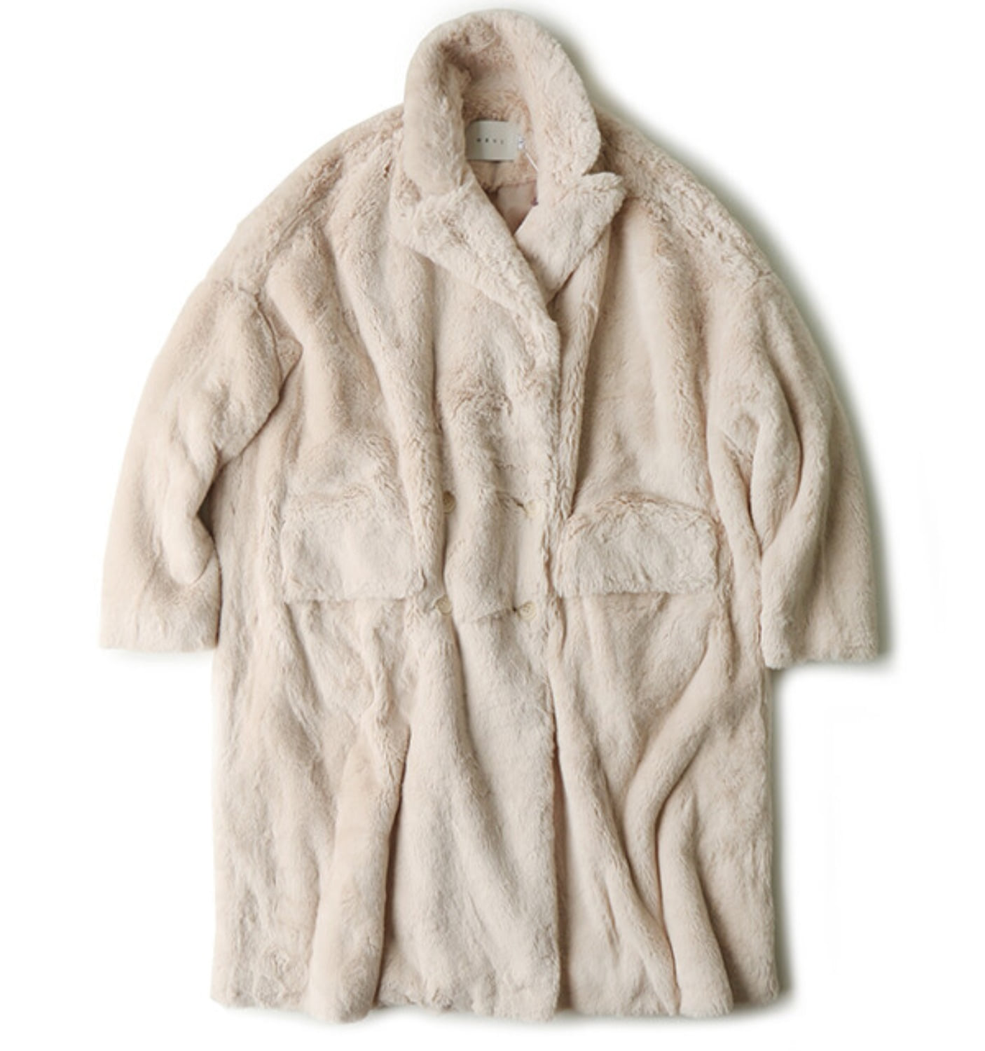 BUNNY FAUX FUR COAT(NCO06002A) IVORY