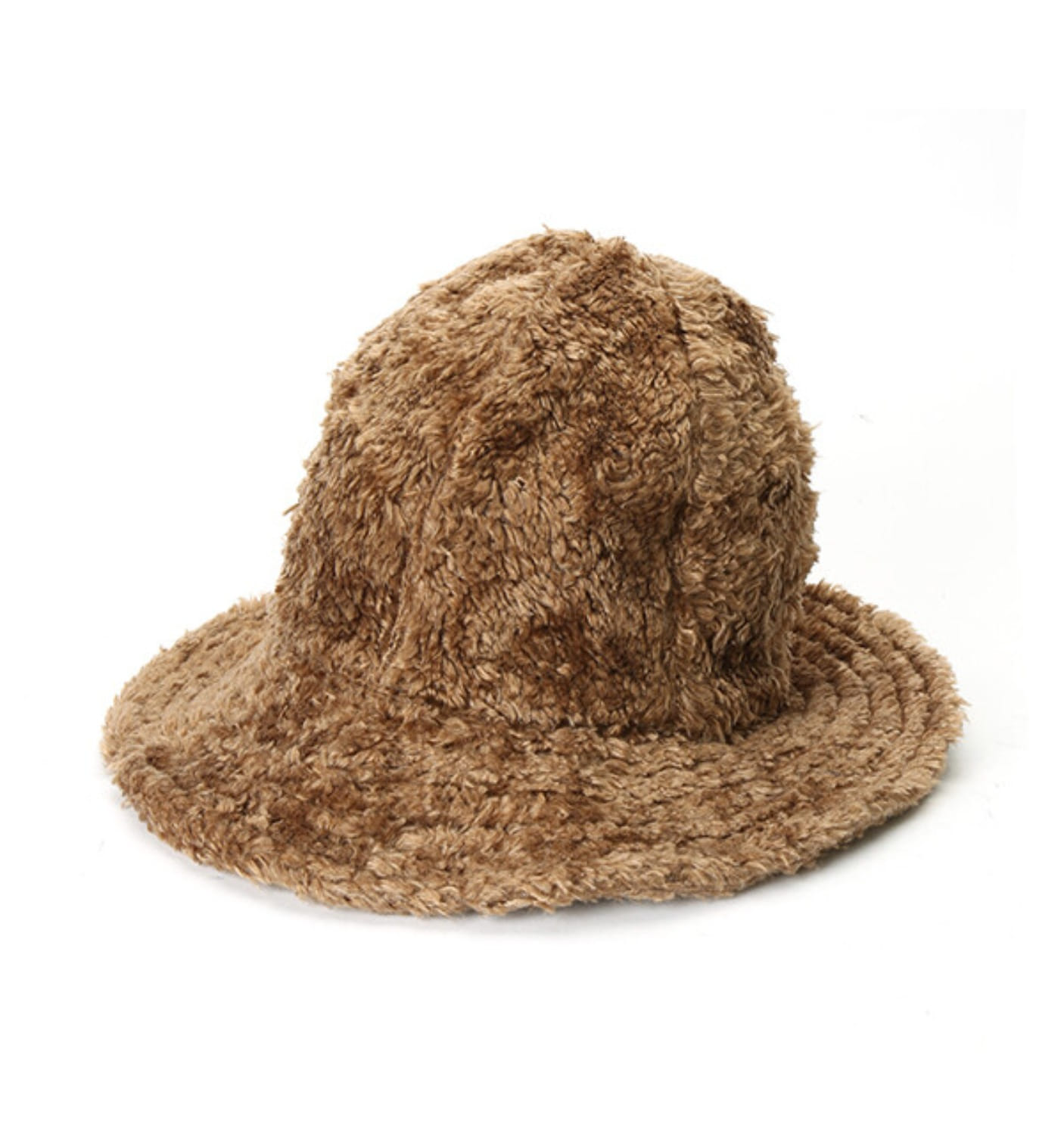 DOME HAT BROWN CURLY