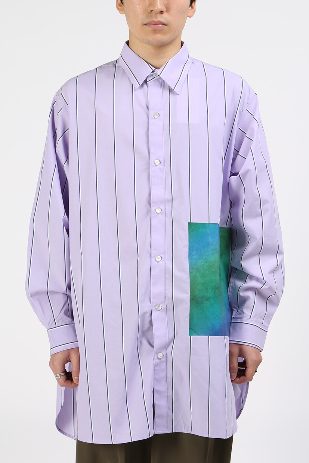 PRINTED LONG SHIRT PURPLE