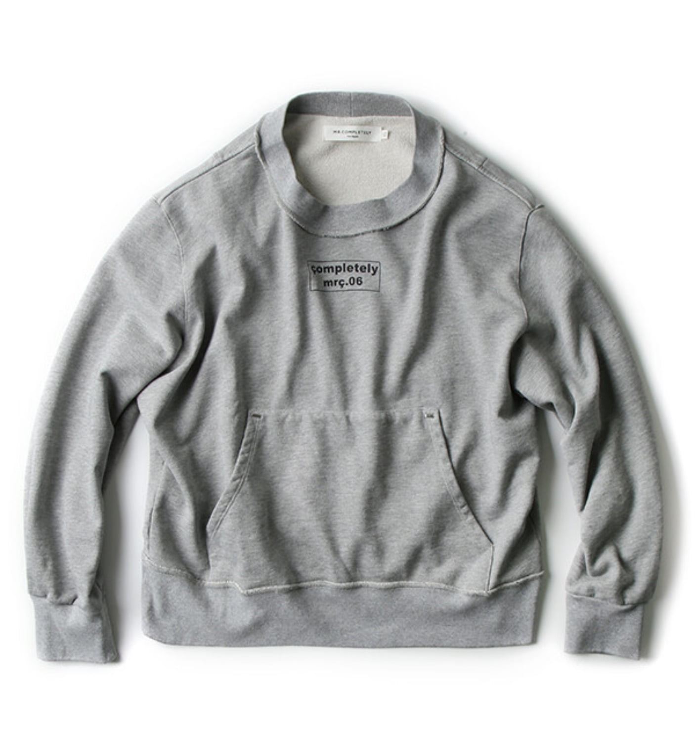 FRONT BACK CREWNECK HEATHER GREY(MRCSS18-63)