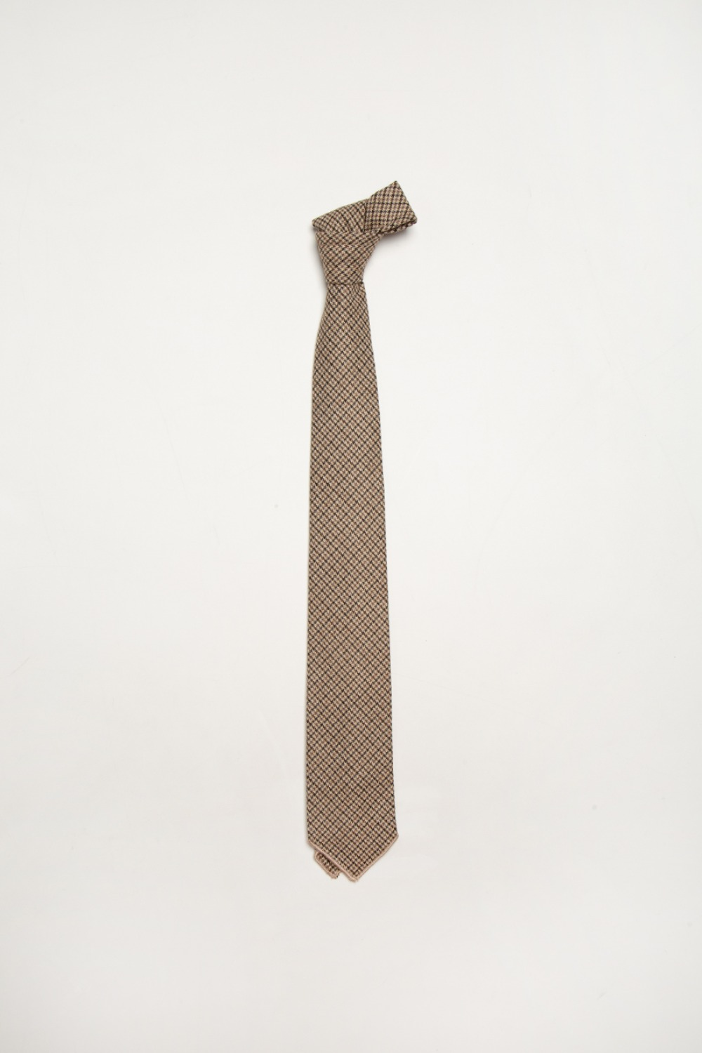 NECK TIE BROWN WOOL POLY GUNCLUB