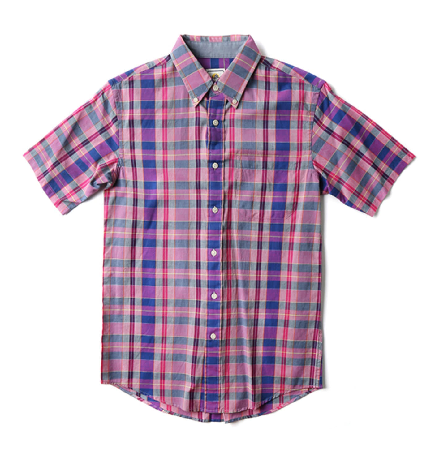 S/S Fitted Seaside BD Shirt Purple