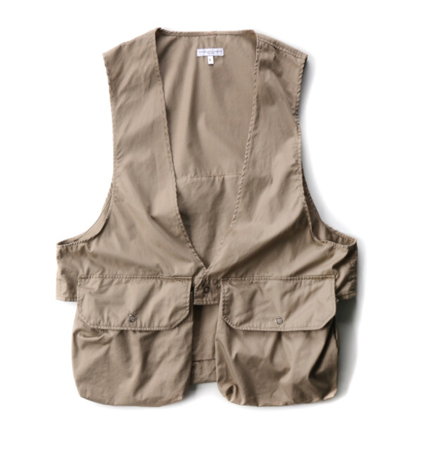 FOWL VEST KHAKI HIGHCOUNT TWILL