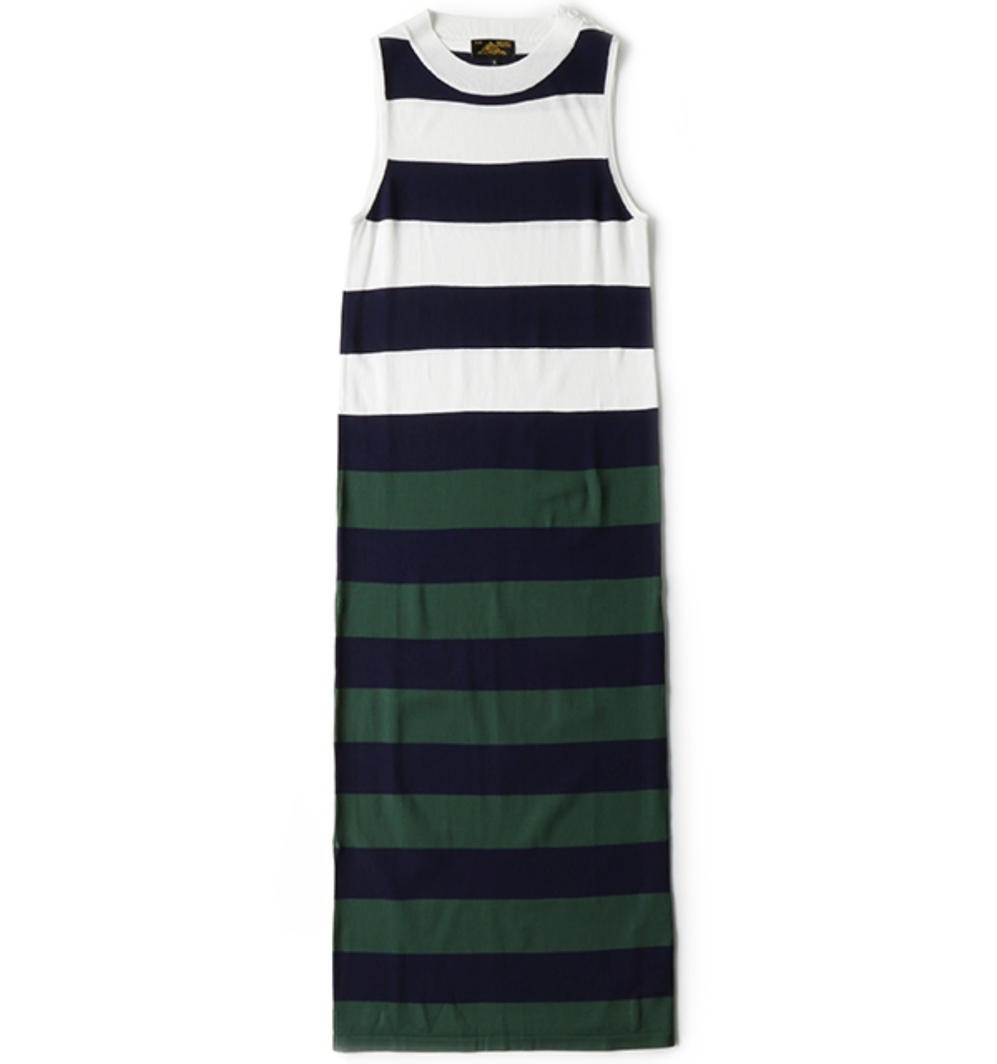 Tricolor wide stripes dress (12732F)