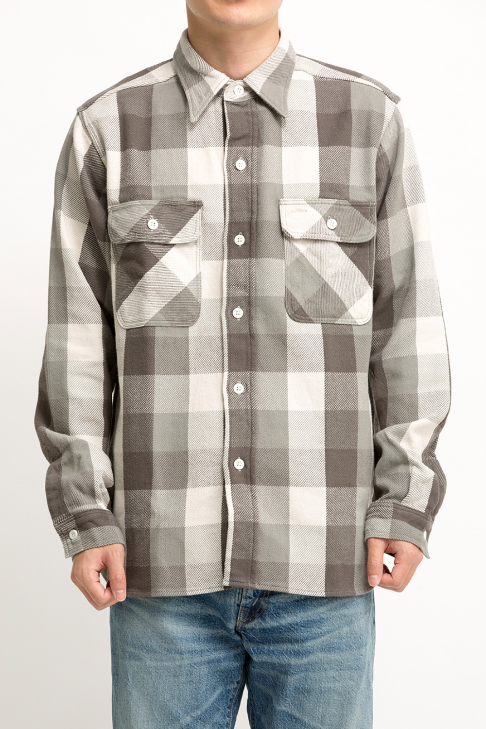 LOT 3104 FLANNEL SHIRTS PATTERN C GREY