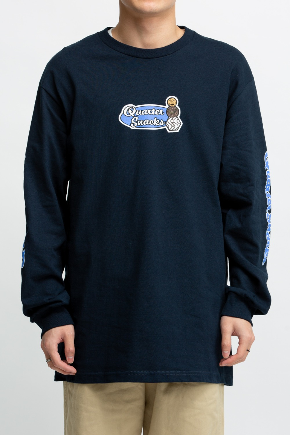 MIDDLE SCHOOL L/S TEE NAVY