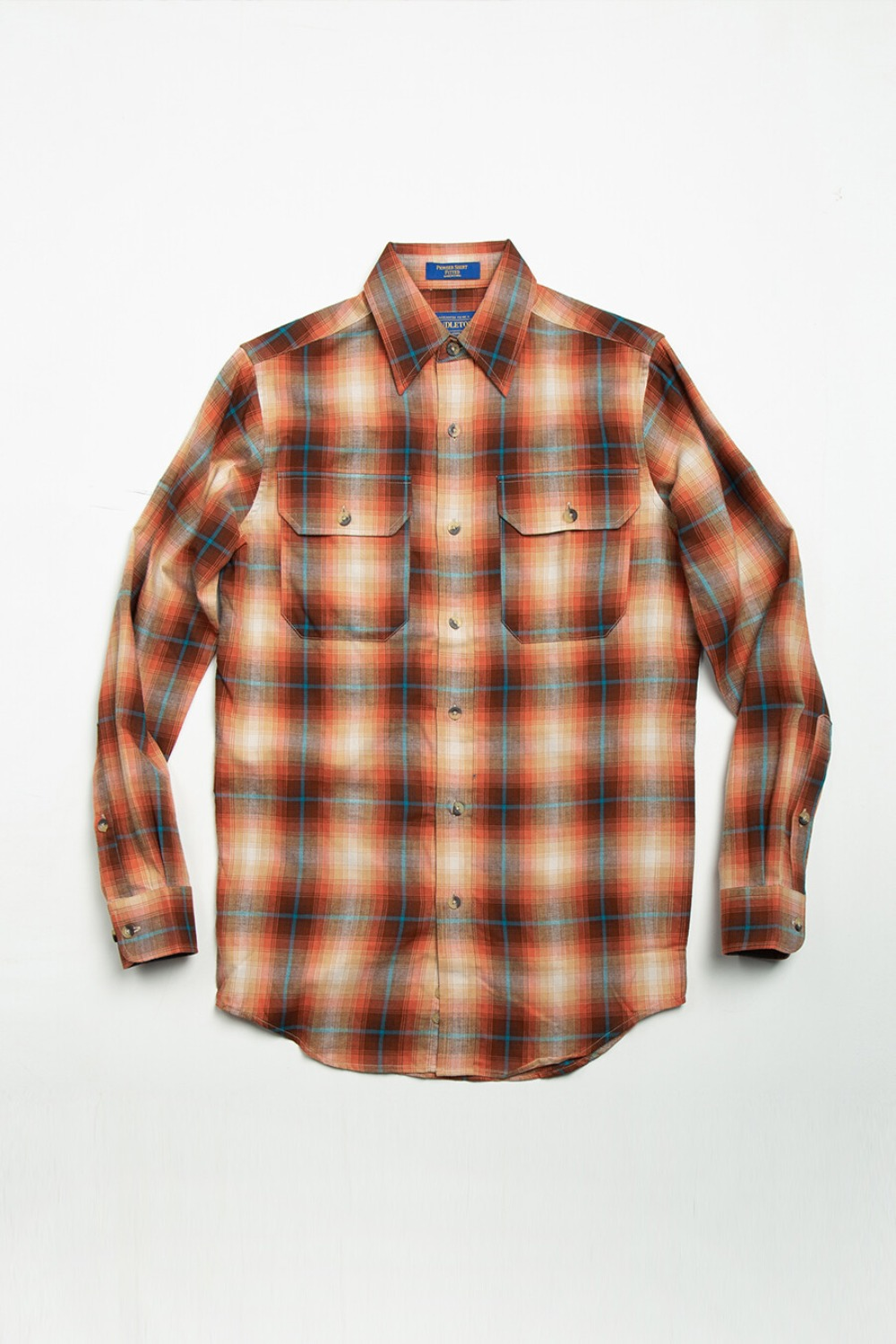 Fitted Pioneer Shirt Rust/Tan