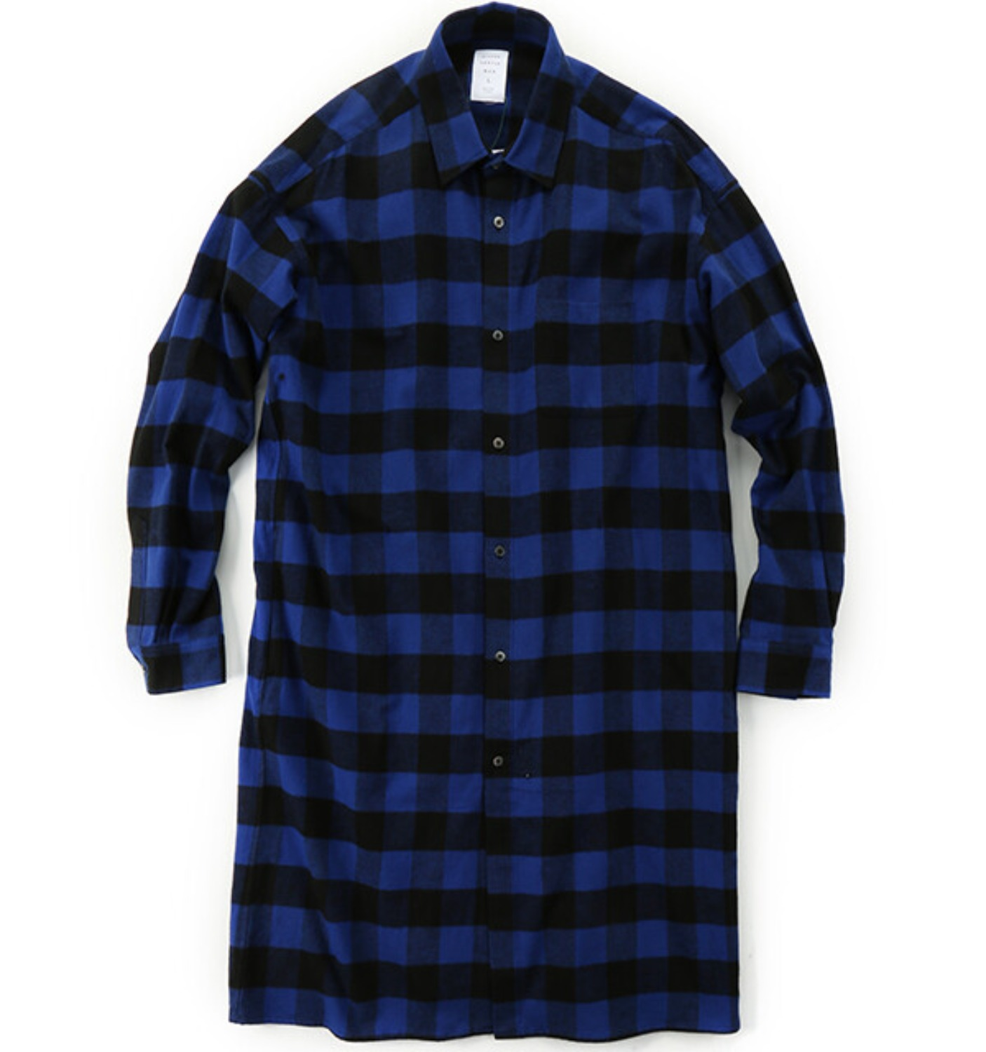 BUFFALO CHECK LONG SHIRT BLUE CHECK