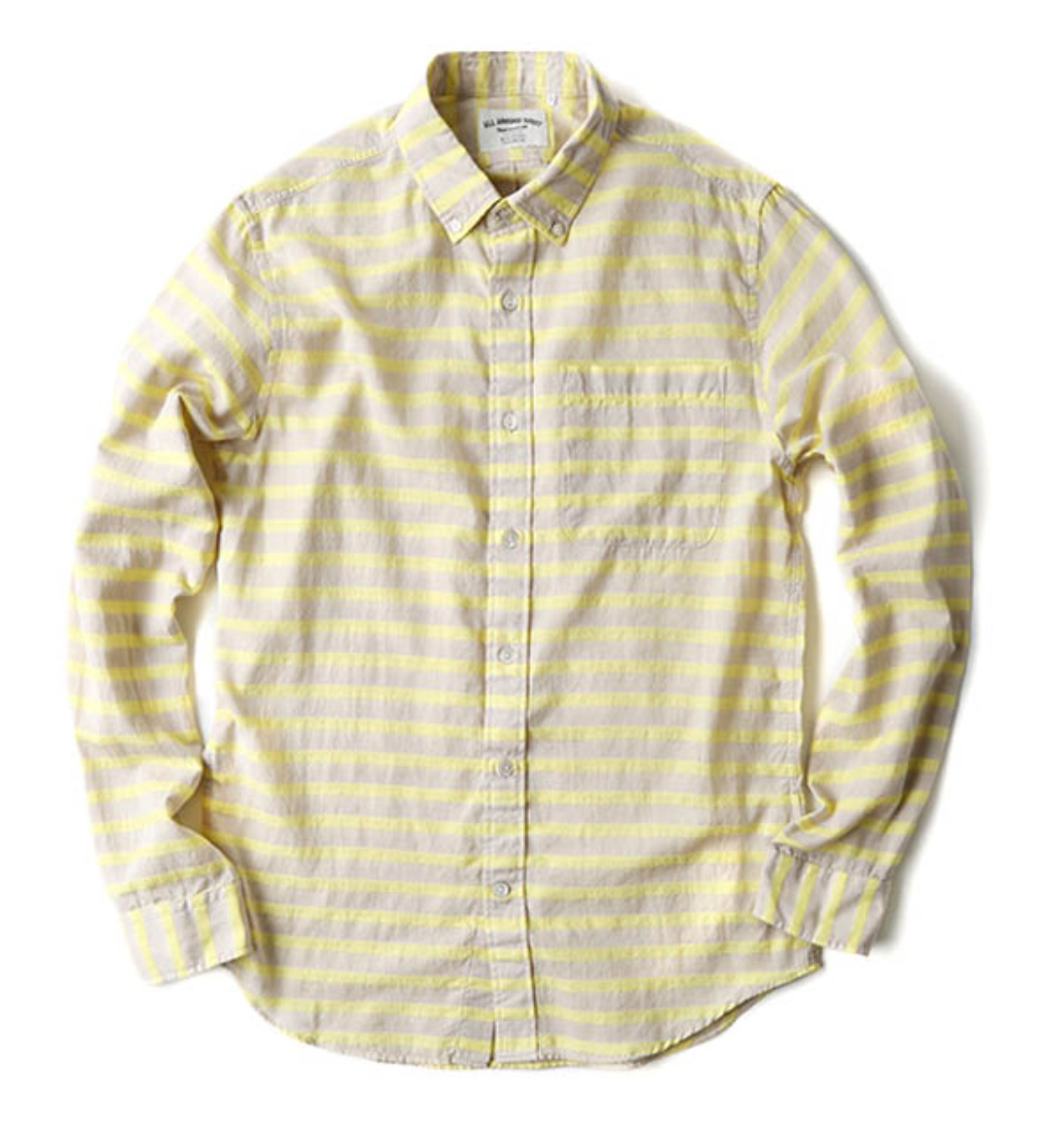 BA01 NATURAL/LEMON HORIZONTAL STRIPE SHIRT