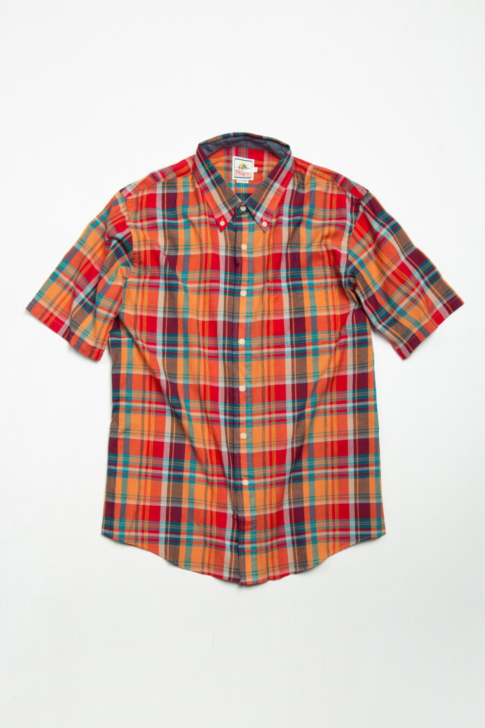 S/S Fitted Seaside BD Shirt Orange