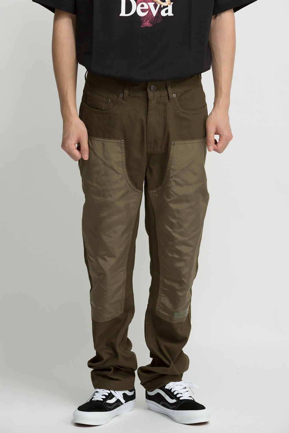 SIMULATION DOUBLE KNEE PANT OLIVE