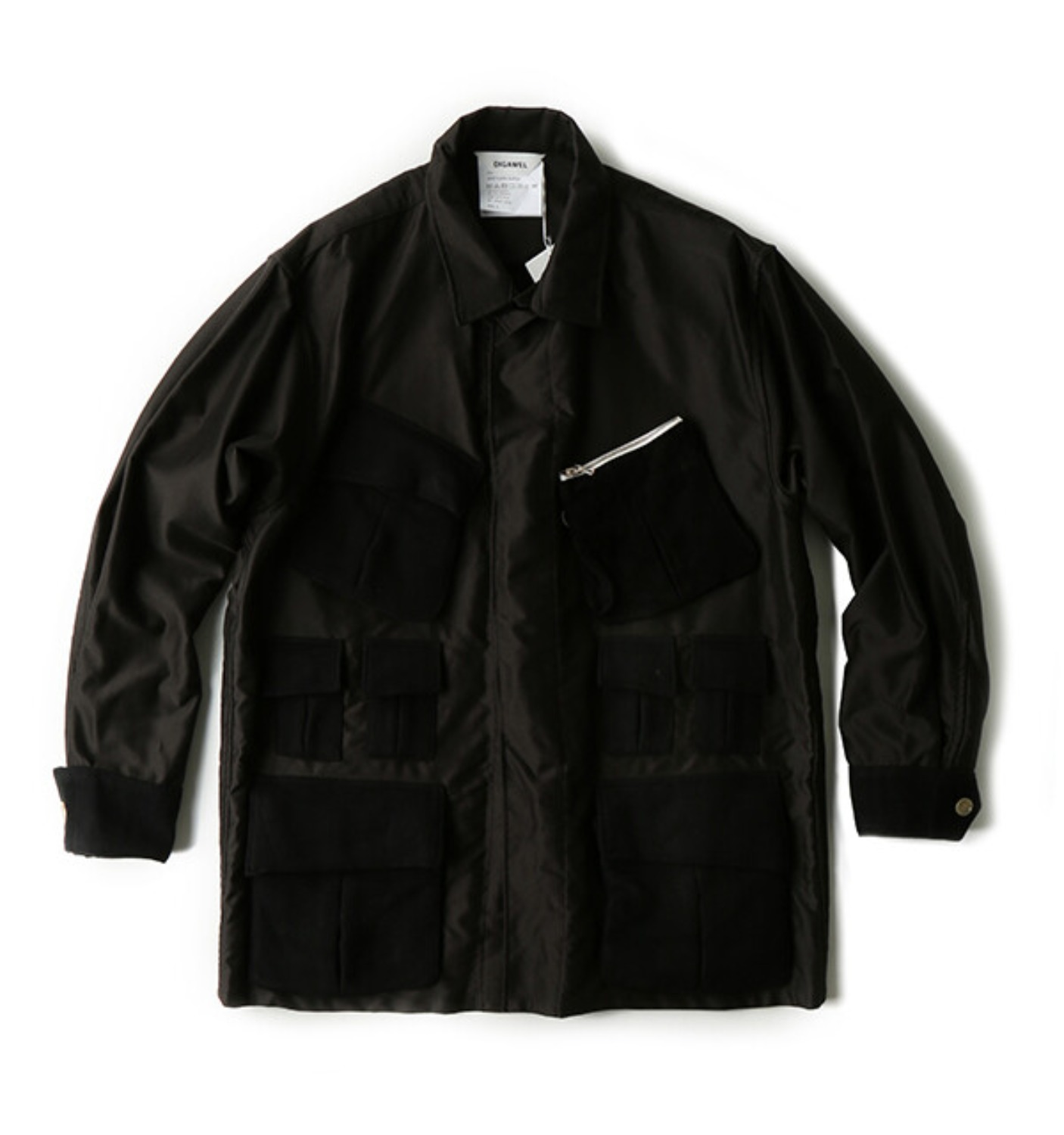 POCKET SHIRT JACKET BLACK