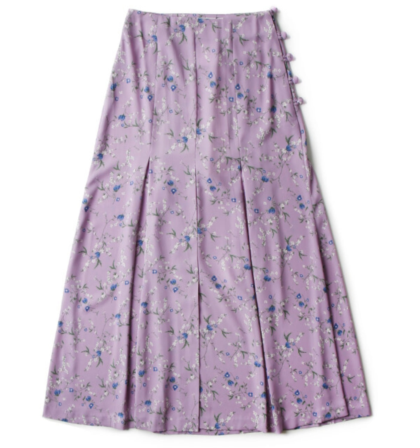 HIGHWAIST FLARE SKIRT VIOLET FLORAL