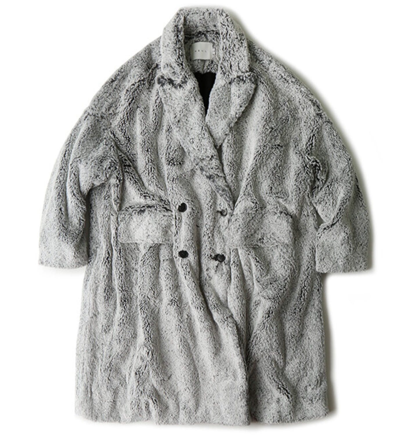 TAMBURINO FAXU FUR COAT(NCO06003A) GREY