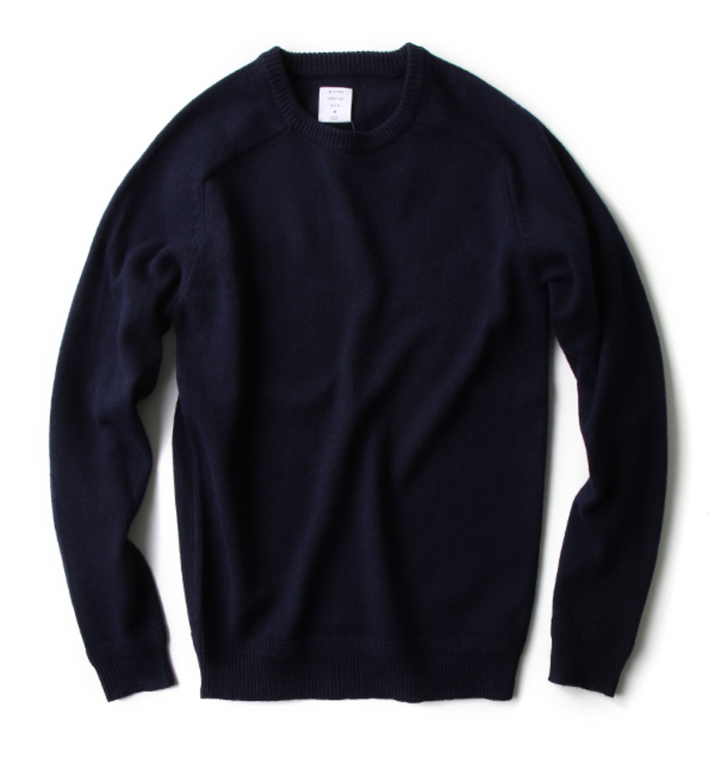 CREW NECK KNIT NAVY(MG-KN01)