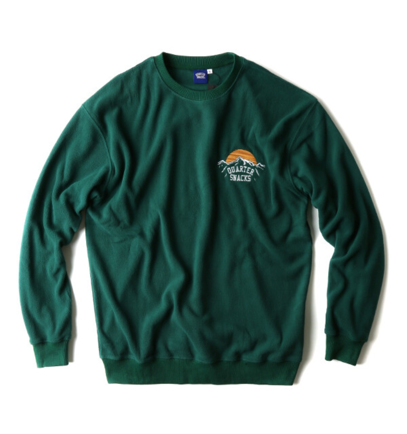 MOUNTAIN LOGO MICRO FLEECE CREW GREEN