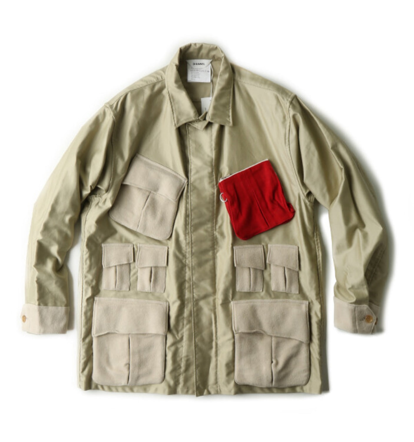POCKET SHIRT JACKET BEIGE