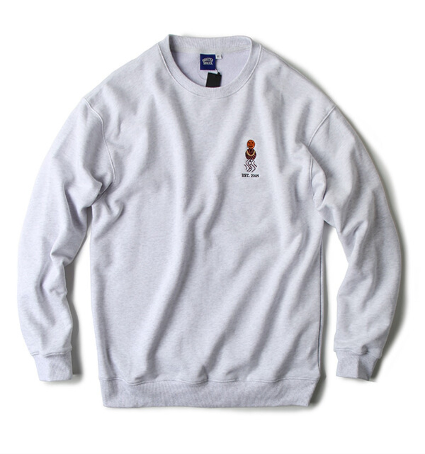 EMBROIDERED SNACKMAN CREW GREY