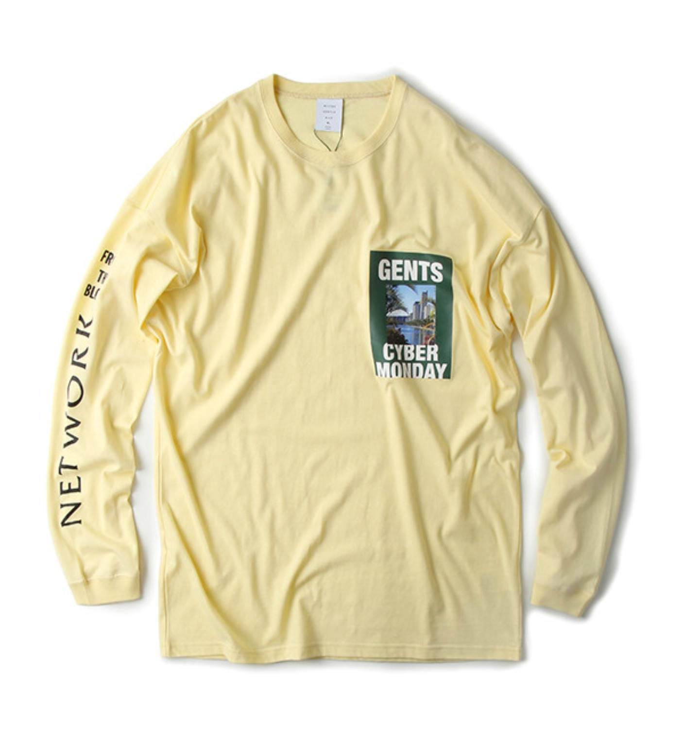 GENTS CIBER MONDAY L/S TEE YELLOW(MGM-LTE03)