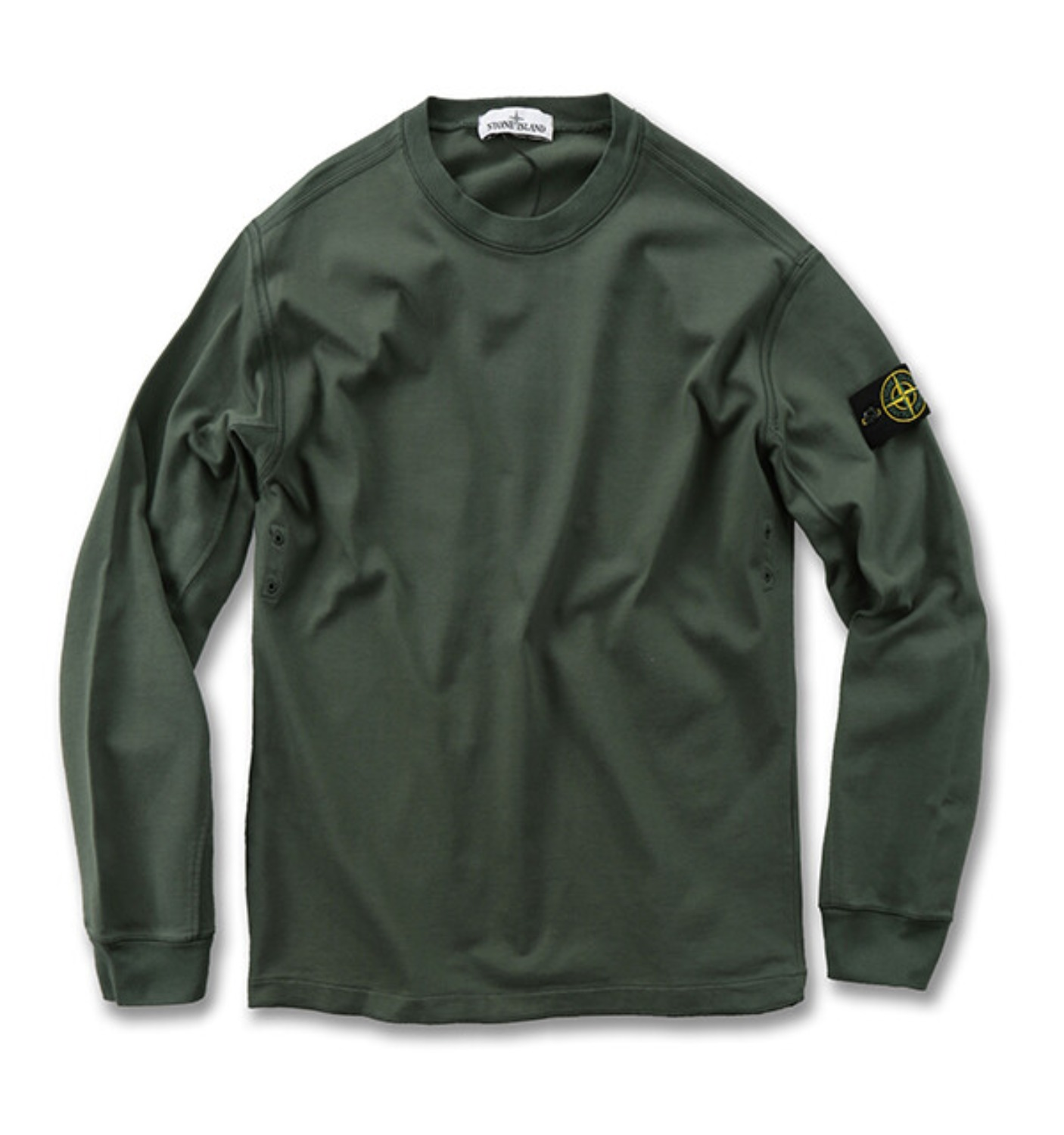 GARMENT DYED CREWNECK SWEATSHIRT GREEN