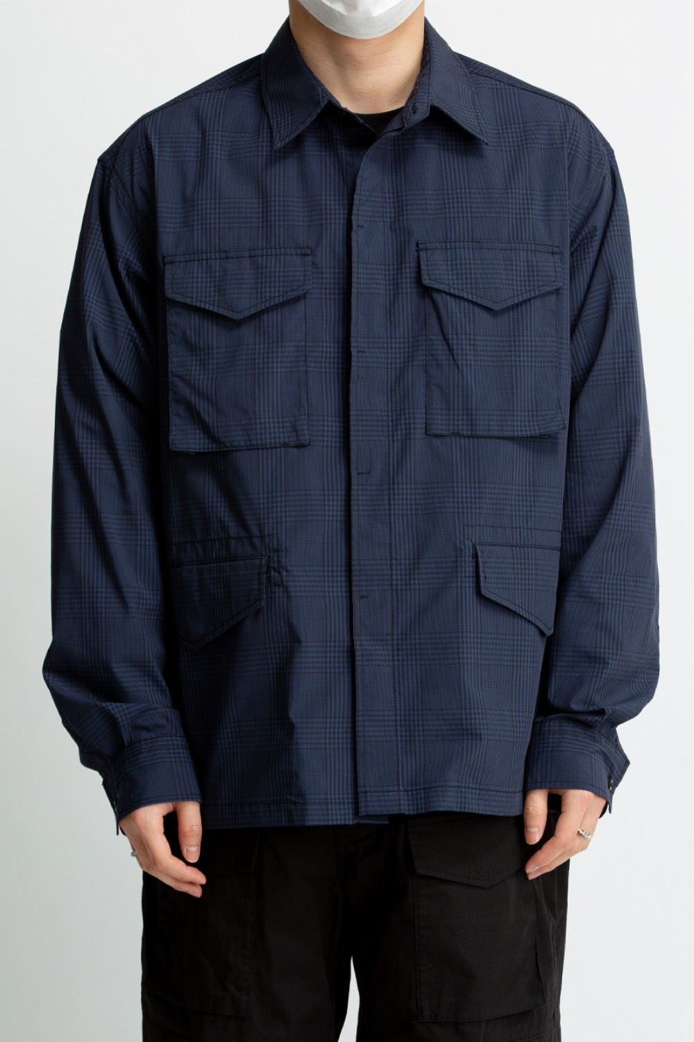M65 SHIRT BLACK/NAVY CHECK