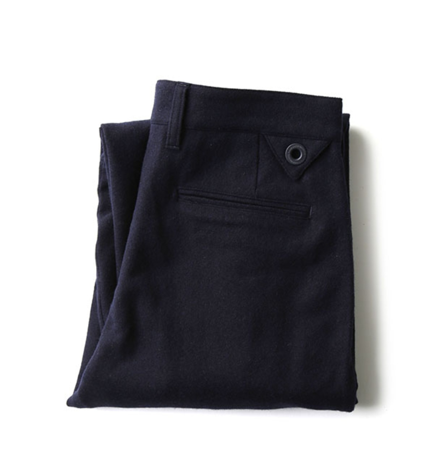 WOOL NYLON FLANNEL 2-TUCK WIDE PANTS NAVY (WL1673415)