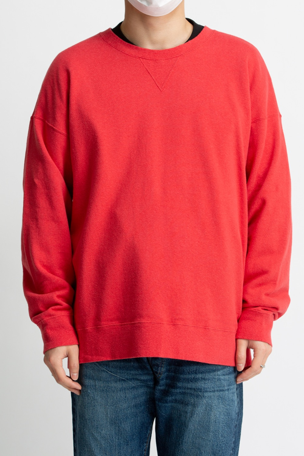 JUMBO SWEAT L/S(NUMBERING) RED
