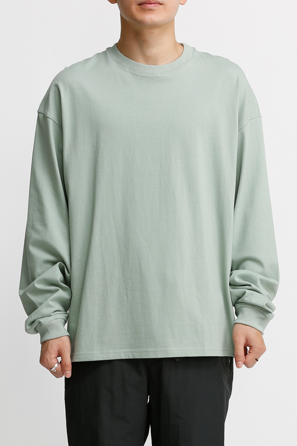 LOGO LABEL LONG SLEEVES / PALE MINT