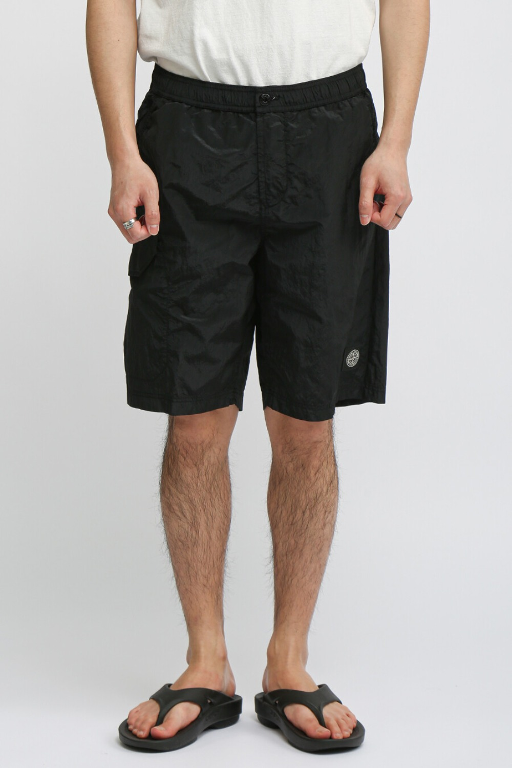 NYLON METAL CARGO SHORTS(B0343) BLACK