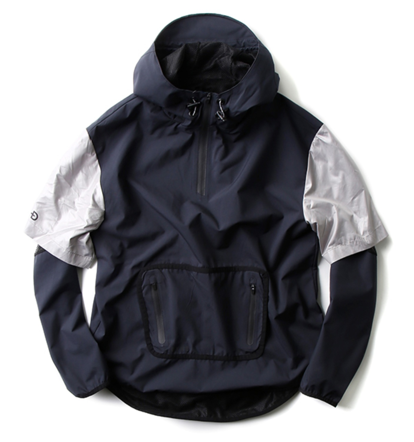 D3014 Ampere Popover Technical Windbreaker Black