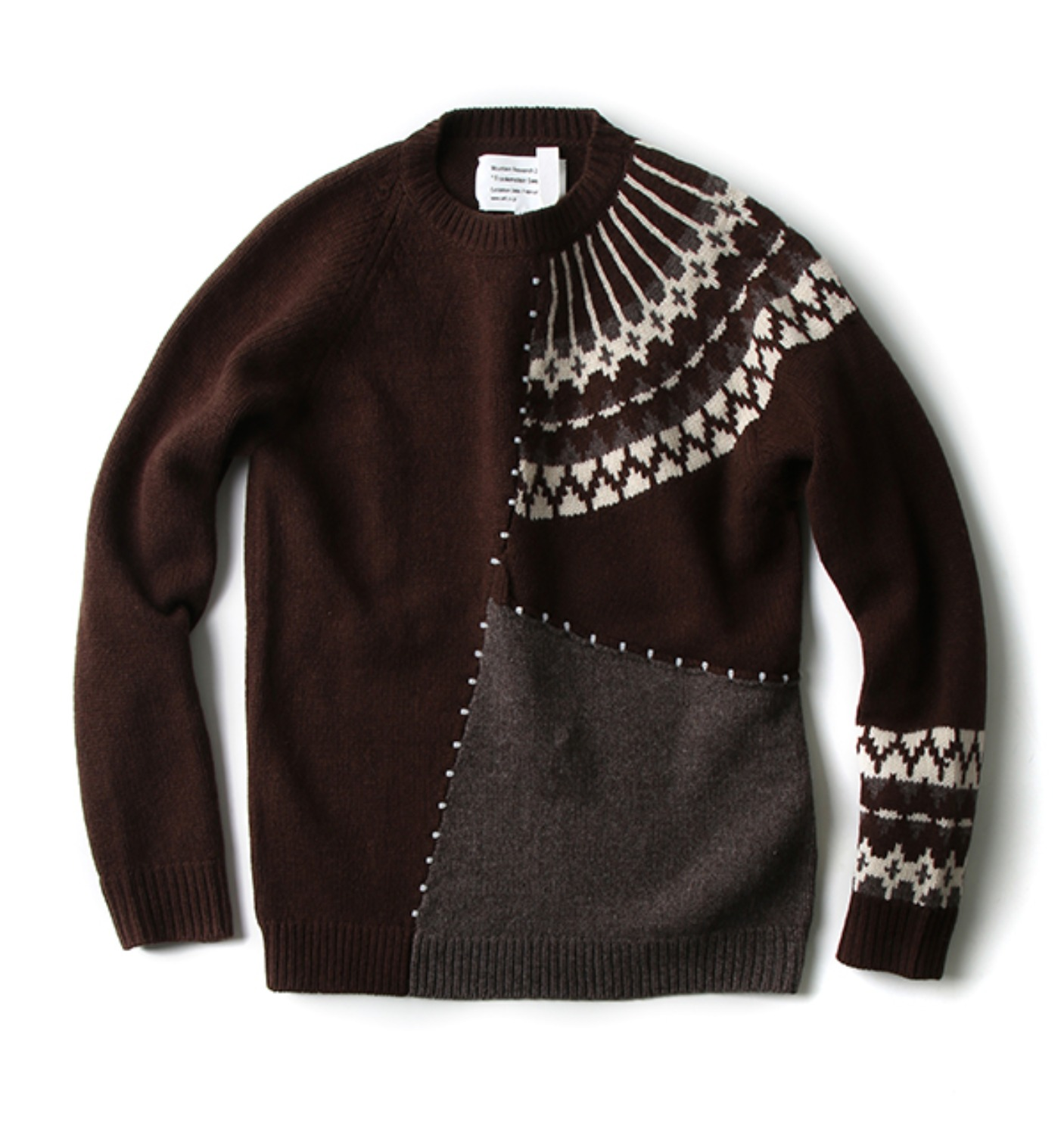 FRANKENSTEIN SWEATER(MTR-2330) BROWN