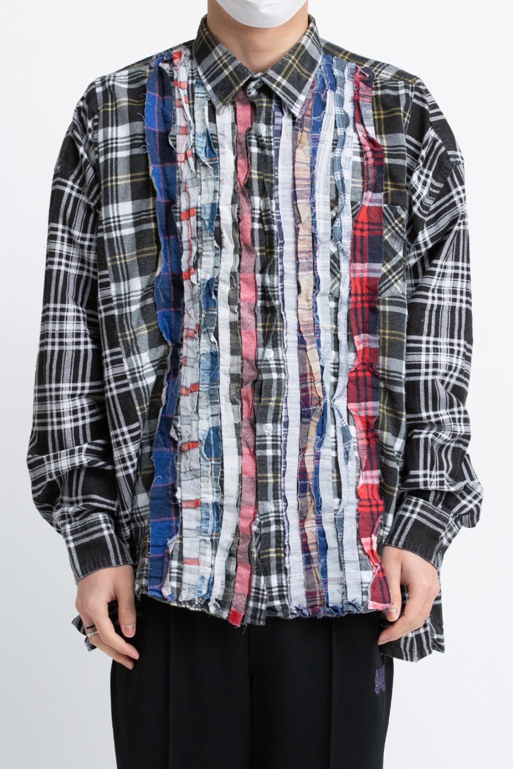 (FRE-7)REBUILD BY NEEDLES FLANNEL SHIRT - RIBBON WIDE SHIRT ASSORTED
