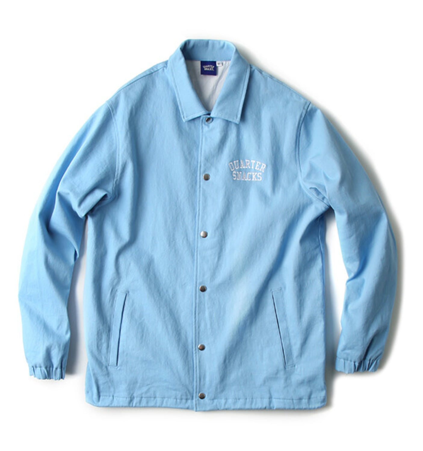 COTTON CANVAS COACH JACKET BLUE
