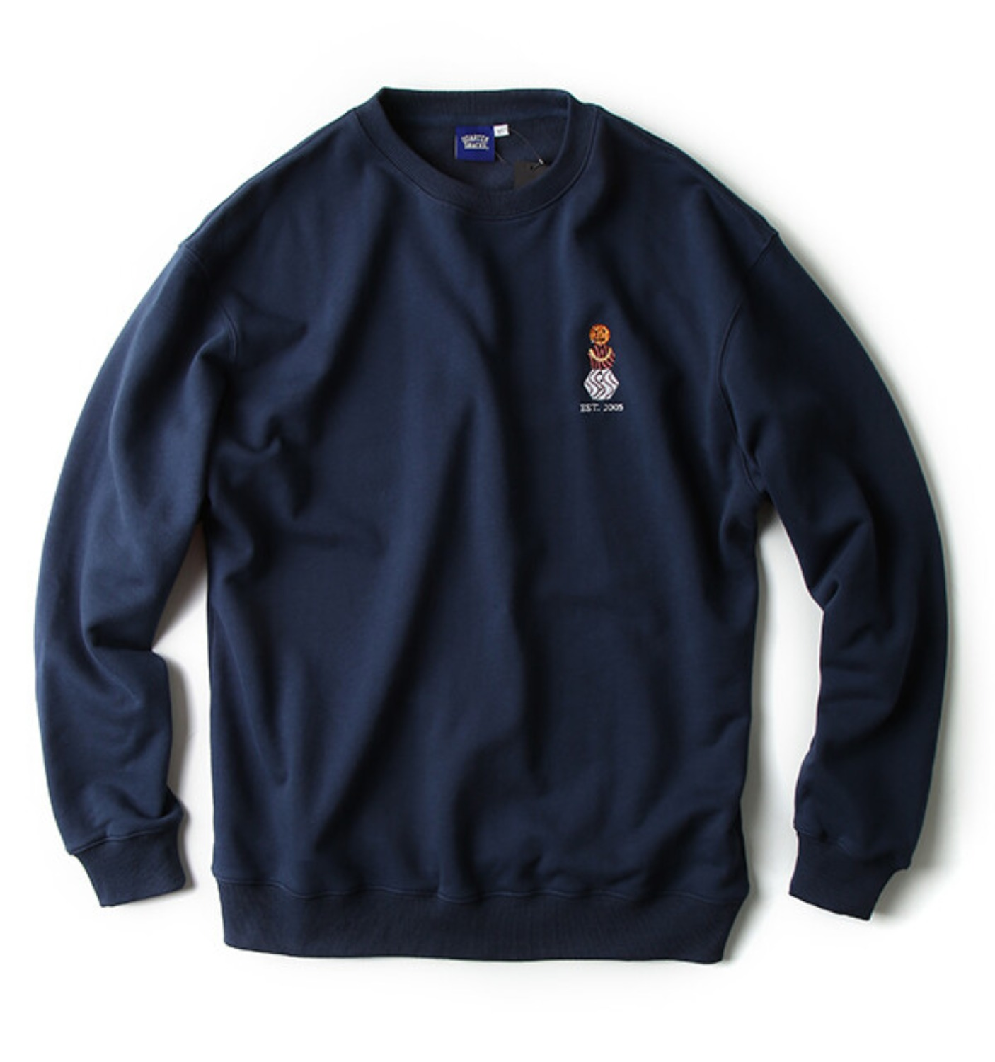 EMBROIDERED SNACKMAN CREW NAVY