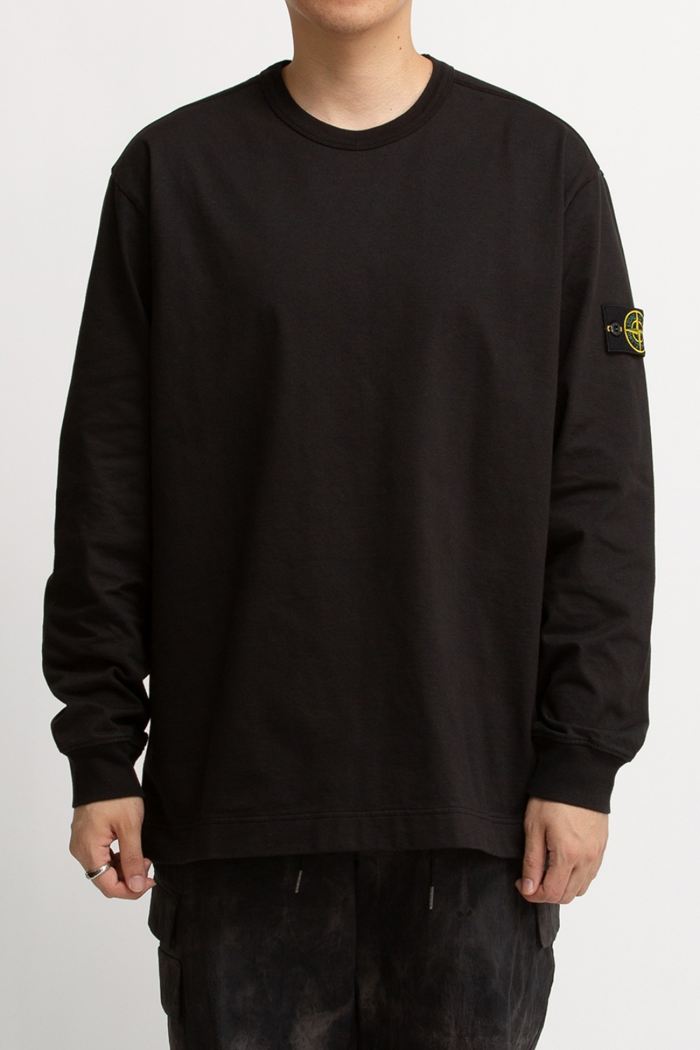 GARMENT DYED CREWNECK SWEATSHIRT BLACK