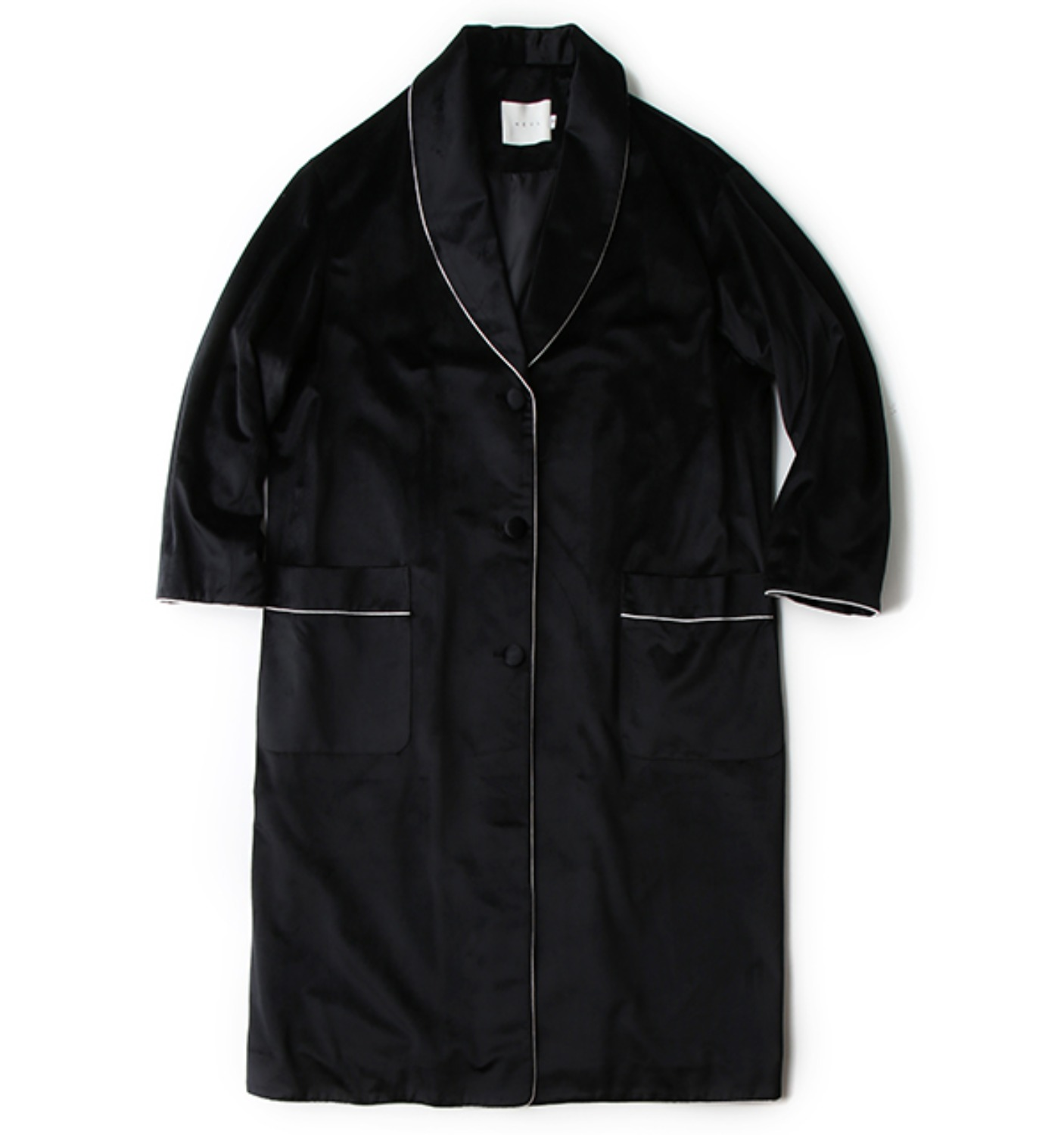 GOODNIGHT VELOUR COAT BLACK(NCO04005A)