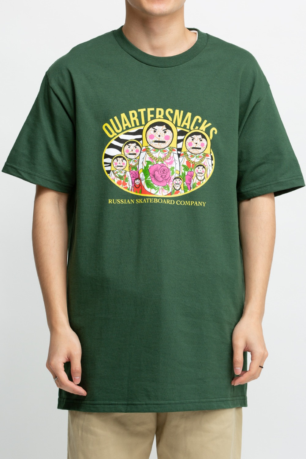 RUSSIAN DOLL TEE FOREST GREEN