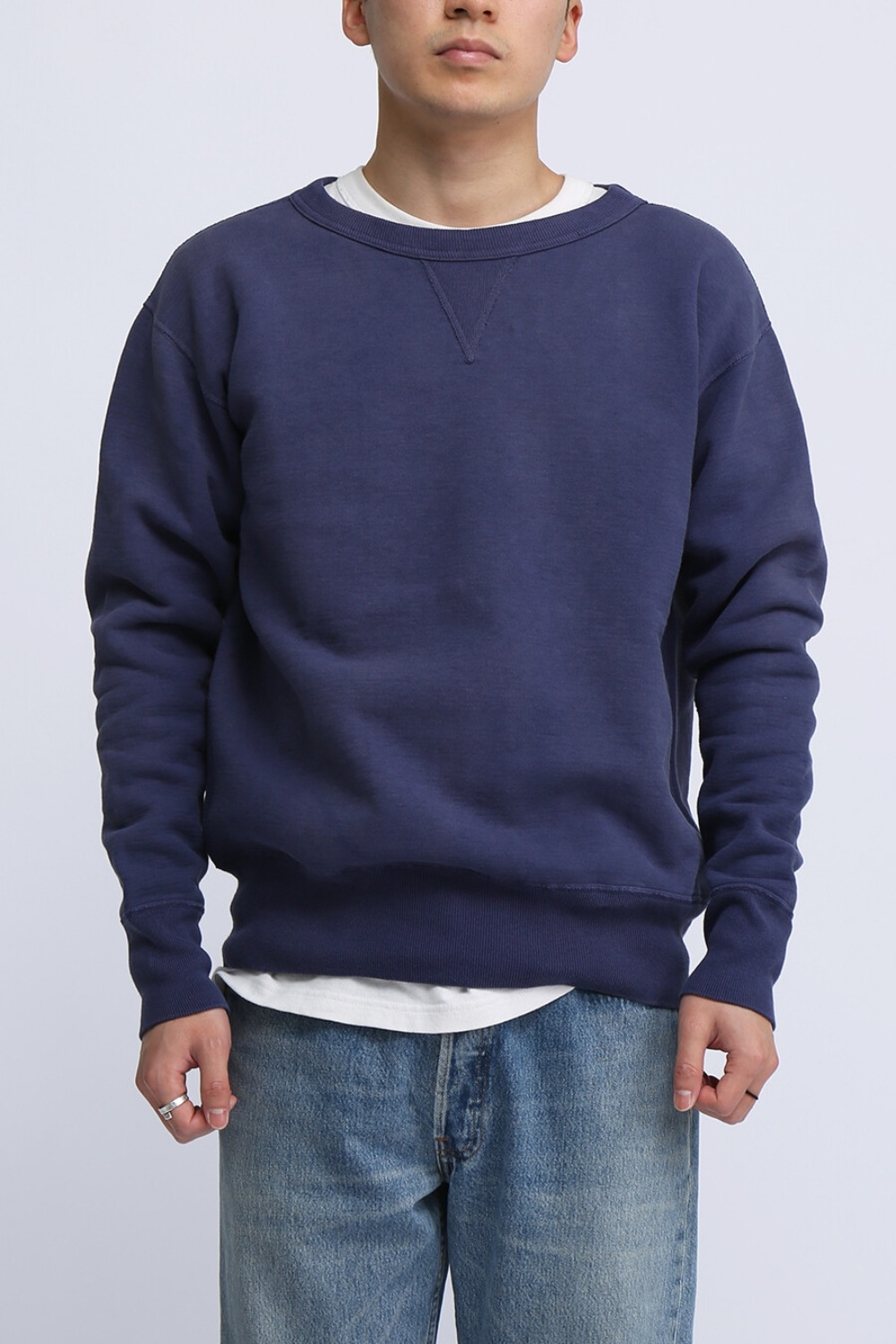 "LOT 474 CREW NECK SWEAT ""FADED"" NAVY"