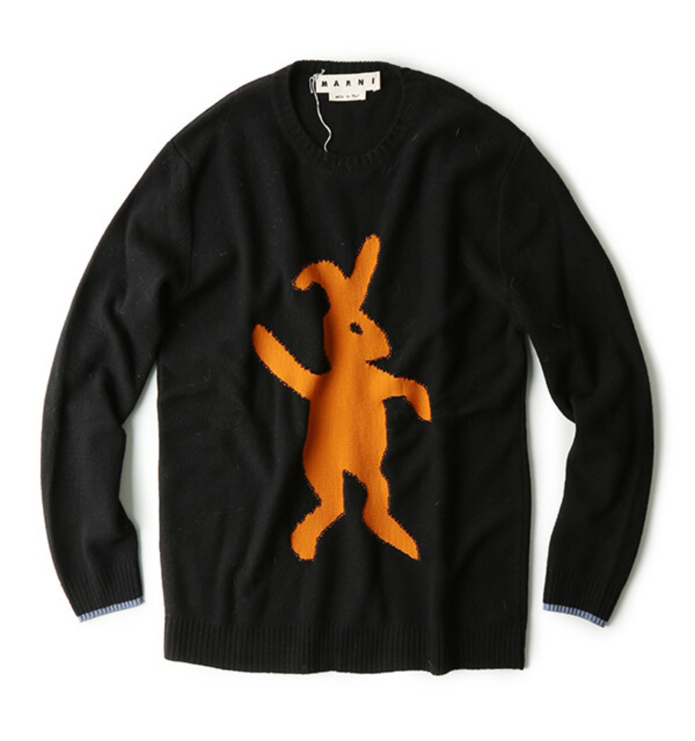 CREW NECK SWEATER BLACK