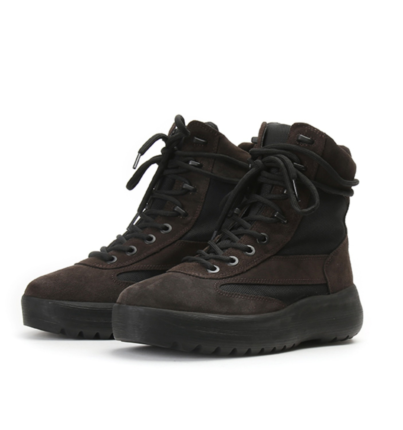 MILITARY BOOT THICK SUEDE&NYLON OIL(KM4005.133)