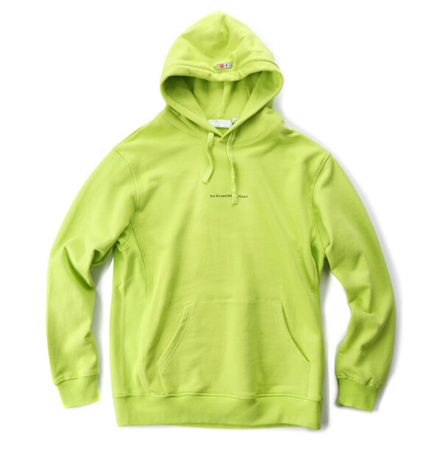 THE DIVER HOODIE LIME