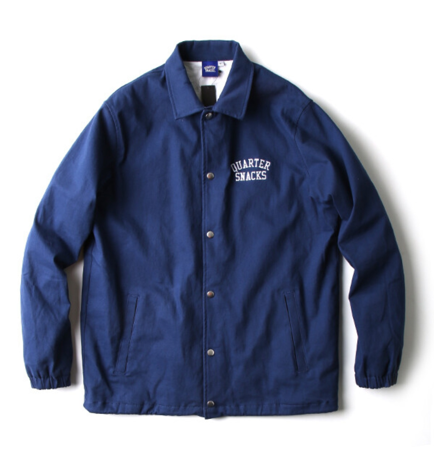 COTTON CANVAS COACH JACKET NAVY