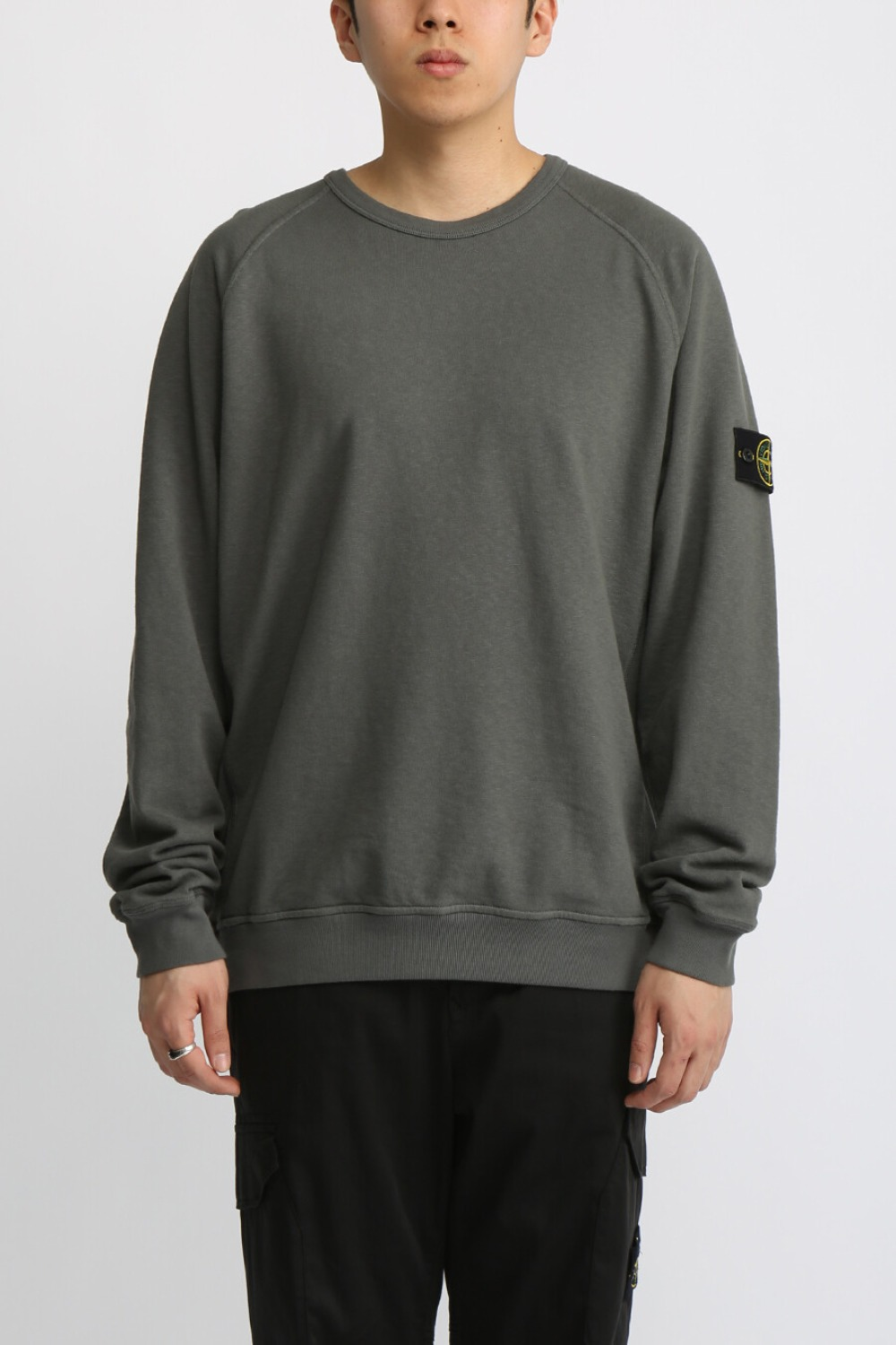 OLD EFFECT BRUSHED COTTON SWEATSHIRT(81M2060) CHARCOAL