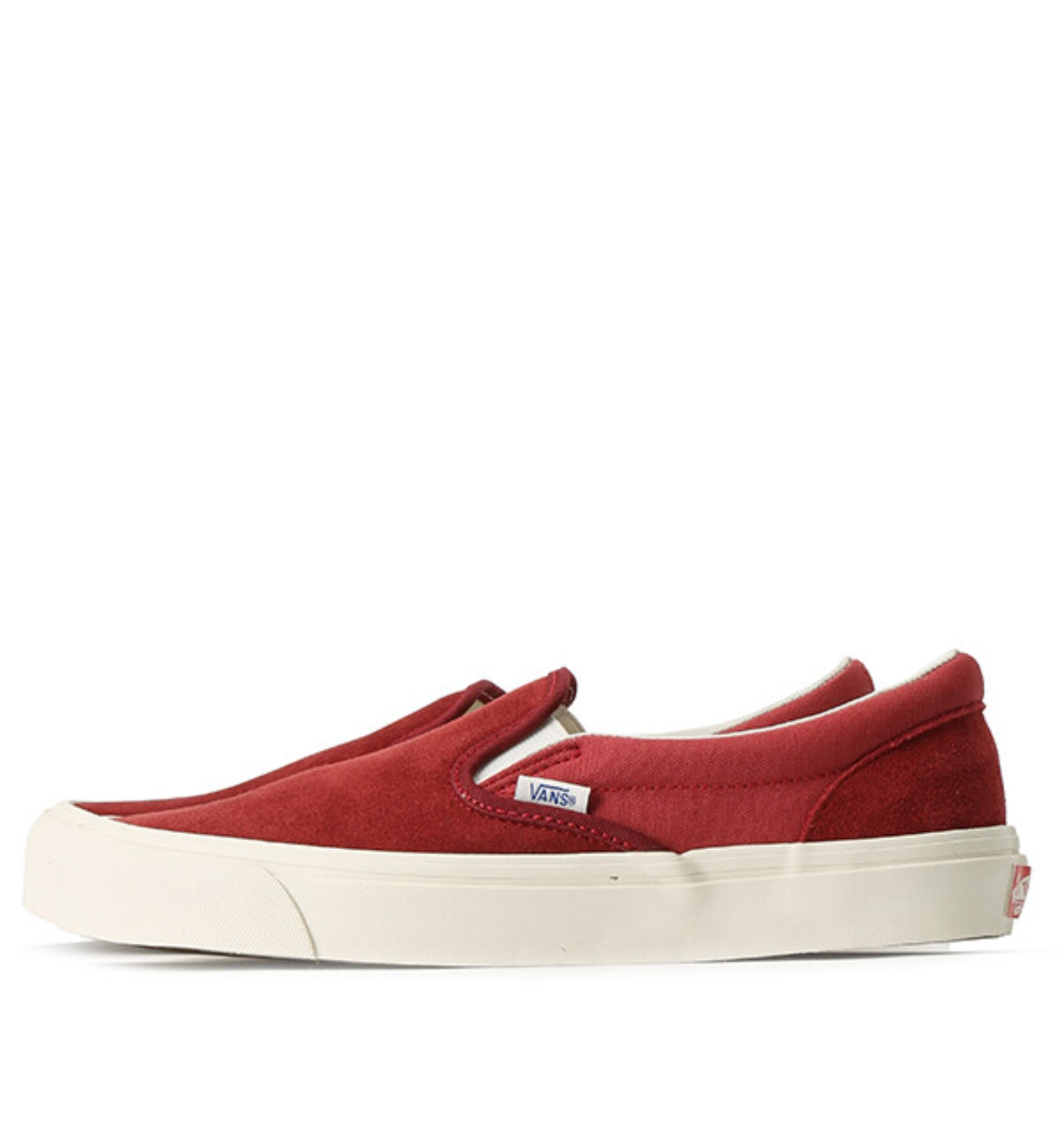 OG CLASSIC SLIP-ON LX(SUEDE/CANVAS)SUNDRIED TOMATO/MINERAL RED (VN000UDFUA11)