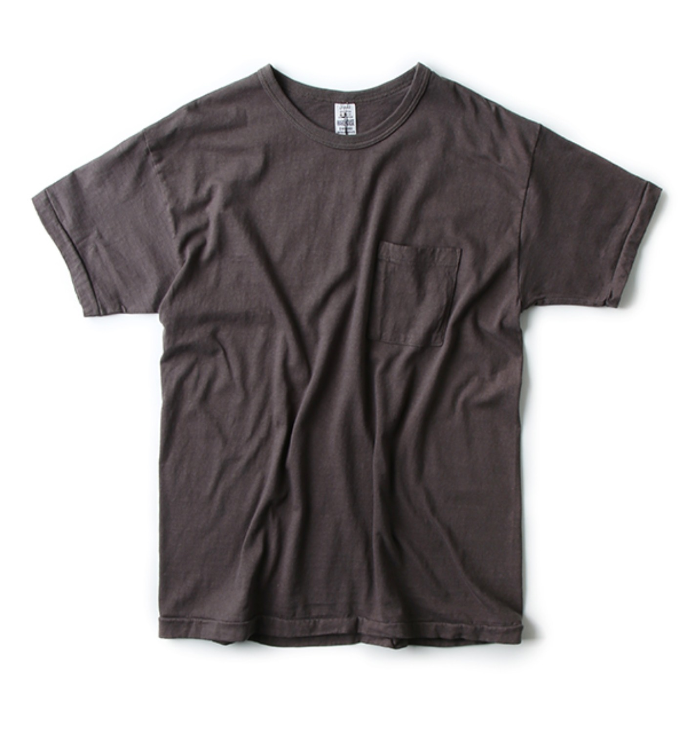 LOT 4065 PATCH POCKET T CHARCOAL