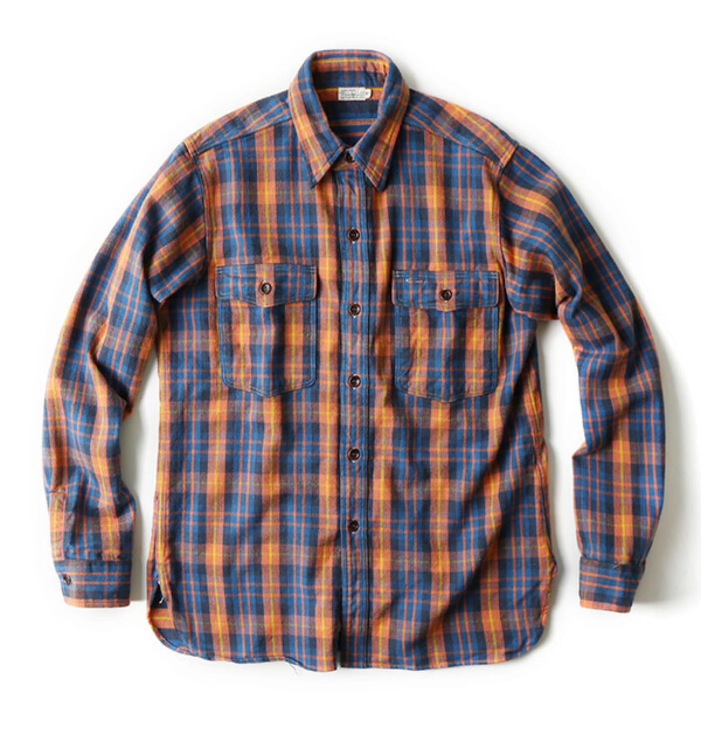 LOT 3022 FLANNEL SHIRT WITH CHIN STRAP BLUE